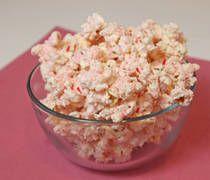 Candy Cane Popcorn! Yum!