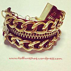DIY Zipper and Chain Bracelet