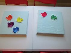 mini felt boards for center activities, small canvas boards with flannel fabric