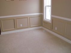 Easy and inexpensive wainscoting.
