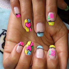 Nails Valentine Nails, Valentines, Acrylic Nails At Home, Manicure And Pedicure, Nail Ideas, My Nails, Nailart, Nail Designs, Nail Polish