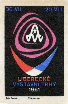 vintage matchbox label, 1961