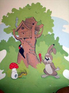 Malby na stěny - výzdoba interiérů - malování na zeď...A zillion stories could be made up for this mural!!