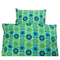 Katvig Junior sengetøj - Mint & Green Big Apple