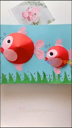 Animal Crafts For Kids, Paper Crafts For Kids, Craft Activities For Kids, Toddler Crafts, Preschool Crafts, Easter Crafts, Fun Crafts, Fish Paper Craft, Arts And Crafts For Kids Easy