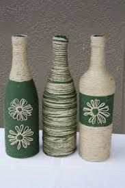 Pin by Felicita Coy on Diy Ideas Wrapped wine bottles, Wine diy wine bottle crafts with twine - Diy Wine Bottle Crafts Wine Bottle Glasses, Wine Bottle Corks, Glass Bottle Crafts, Diy Bottle, Glass Bottles, Wrapped Wine Bottles, Twine Bottles, Painted Wine Bottles, Decorated Bottles