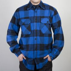Upper Playground WALRUS LABEL HEAVYWEIGHT PLAID FLANNEL - MEN'S - http://shop.upperplayground.com/#view=details&item=UP67909SBU&search=*gender/mens*&currIndex=256&pageSize=32&currSort=sort_order&sortDirection=desc