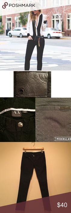 "AlX Armani Exchange jeans A classic pair of AX black straight leg jeans jeans. Size 2 short 98% cotton 2% spandex. Inseam 29 1/2"" waist 14 1/2"" A/X Armani Exchange Jeans Straight Leg"