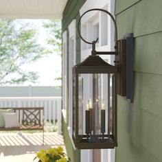 Caswell 3 - Bulb H Outdoor Wall Lantern Gas Lanterns, Outdoor Hanging Lanterns, Outdoor Barn Lighting, Outdoor Sconces, Outdoor Light Fixtures, Outdoor Wall Lantern, Porch Lighting, Exterior Lighting, Outdoor Walls