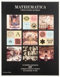 Eames Office poster for the MATHEMATICA:  A WORLD OF NUMBERS AND BEYOND exhibition...  #IBM