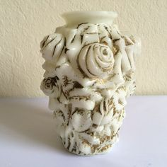 Antique Dithridge and Co Milk Glass Vase Covered in by REACQUAINT