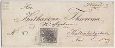 Austria, 1850, VIENNA, dumb cancel, 240 p, 2 H Ib, letter to KALTENLEUTGEBEN/Lower Austria, VF!, certificated Goller