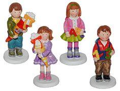 3-D Figur Mädchen mit Schultüte 9,5 cm - Tischdeko aus Kunstharz zur Schuleinführung Einschulung Zuckertüte Schulanfang Deko