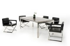 Modrest Retna Modern Concrete Dining Table VGGR720710Product : 70329Features:Dark Grey Fiber Reinforced Natural Concrete Table TopAcrylic Sealed Finish To Prevent StainingStainless Steel FrameRectangularMay Be Used OutdoorsWeight: 185 Lbs.Care Instructions: Wipe With Mild Soap (Such as Dish Soap)
