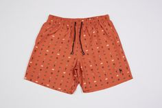 Podenco Eivissa Orange Talisman print swim shorts To buy: https://img1.etsystatic.com/048/0/10356115/il_570xN.693598471_kogr.jpg