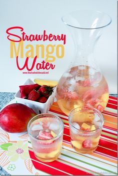 Strawberry Mango Naturally Flavored Water! So delicious! #recipe #healthyliving