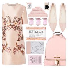 """""""I feel like a ray of sunshine in this dress"""" by floralandmay ❤ liked on Polyvore featuring STELLA McCARTNEY, MICHAEL Michael Kors, Witchery, Love 21, Fig+Yarrow, Kilner, Hamam and Nikon"""