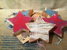 painted wooden stars
