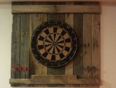 Reclaimed dart board backboard by RadicallyReclaimed on Etsy