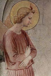 Fra Angelico - Annunciazione della cella 3 di San Marco - L'Angelo