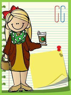School Items, School Days, Teacher Binder Covers, Stick Figure Family, Kids Background, Love Teacher, School Pictures, Music For Kids, Cartoon Pics