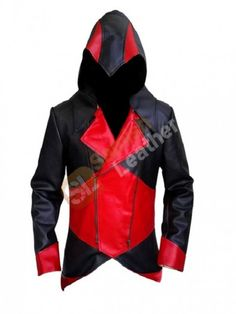 If you are a die hard fan of games then this should be must a have outfit for you, get this electrifying Red and Black Assassins Creed 3 Leather Jacket. Get this sizzling one @ very reasonable cost available at Samish Leather.