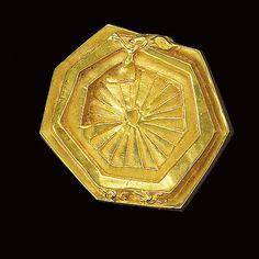 * Bronze compact by Line Vautrin - 'Soeur Anne'