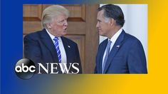 Speculation Grows Over Possibility of Mitt Romney Joining the Trump Admi...