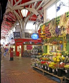 Oxford Covered Market: Bought a turkey for Thanksgiving from David John Butchers when we lived in Oxford
