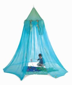 Under The Sea Play Canopy - from Myriad Natural Toys & Crafts Fairy Bedroom, Girls Bedroom, Bedrooms, Sea Creatures Crafts, Play Beds, Natural Toys, Under The Sea Party, Waldorf Toys, Toy Craft