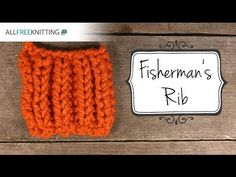 How to Knit the Fisherman's Rib Stitch - YouTube