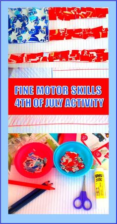 Fine Motor Skills Activity for 4th Of July