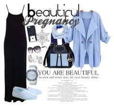"""beautiful pregnancy"" by mutiara-imroni on Polyvore featuring Topshop, Dr. Denim, Nordstrom, WithChic, Michael Kors, TOMS, Kate Spade, Balmain and GUESS"