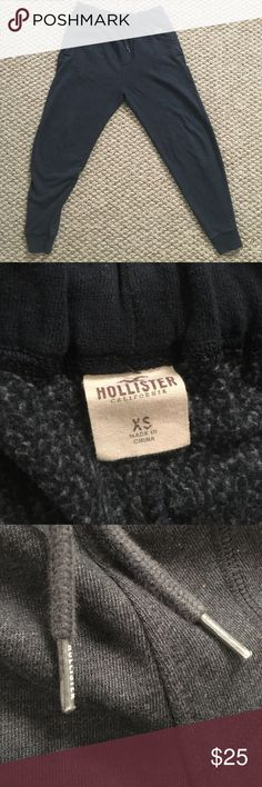 Navy Blue Hollister sweat jogger pants Hollister jogger sweats, navy, men's adult XS, no stains or tears, good condition Hollister Pants Track Pants & Joggers