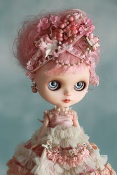 Image of Marie Antoinette - ooak custom Blythe art doll by Mab Graves