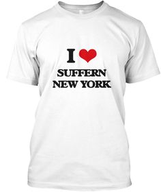 I Love Suffern New York White T-Shirt Front - This is the perfect gift for someone who loves Suffern. Thank you for visiting my page (Related terms: I love,I love Suffern New York,I Love SUFFERN New York,SUFFERN,Rockland,SUFFERN travel,New York,SUFF ...)