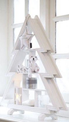 Christmas tree shelf idea
