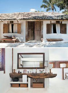 de coraç@o: Casa de Praia Rústica Chique no Brasil