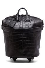 GIVENCHY Crocodile Stamped Nightingale Trolley in Black ----- All that I need to travel !!!