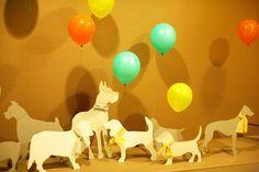 adorable dog party