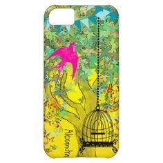 Whimsical Tree Birdcage Bright Color Musical Notes iPhone 5C Cover by samack