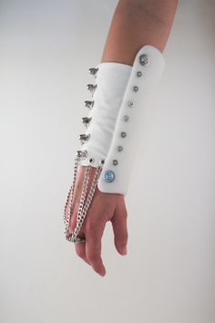 A fashionable and futuristic arm band made with InstaMorph moldable plastic
