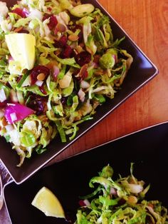 Shredded Brussels Sprouts Slaw - this sounds really yummy!