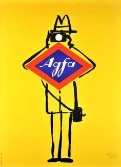 agfacameras:  Agfa advertising by Herbert Leupin (1956)