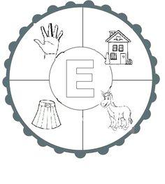 E SESİ MANDALA Alphabet E, Articulation Activities, Turkish Language, Writing A Book, My World, Autism, Montessori, Origami, Diy And Crafts