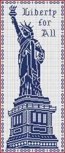 The Statue of Liberty, chart for filet crochet.