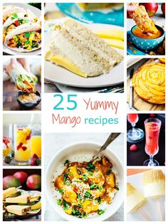 Wow! I love Mango and these are awesome mango recipes. They are easy, refreshing and perfect for the summer!