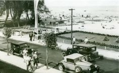 Street Orłowska on the beach in Orłów, 1938.