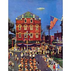 """Refurbished Marmont Hill - """"Independence Parade"""" by John Falter Painting Print on"""