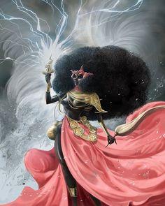 Oya Goddess, Goddess Art, Goddess Tattoo, Black Goddess, African Mythology, African Goddess, Black Girl Art, Art Girl, Oya Orisha